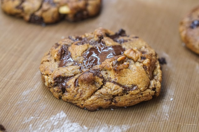 Gooey chocolate chip cookie