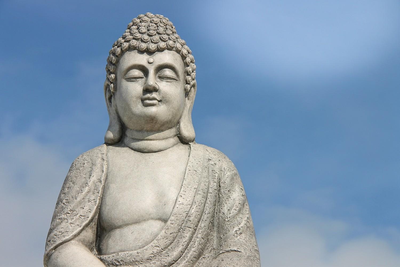 Buddha statue with blue sky