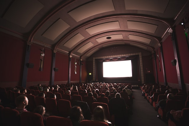 Audience at movie theater
