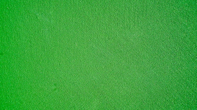 Bright green patch of astroturf