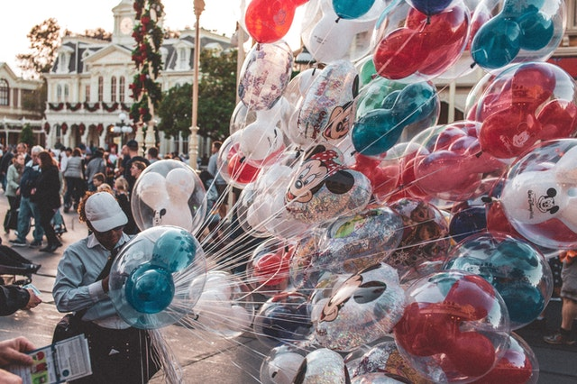 Mickey mouse balloons at disneyland