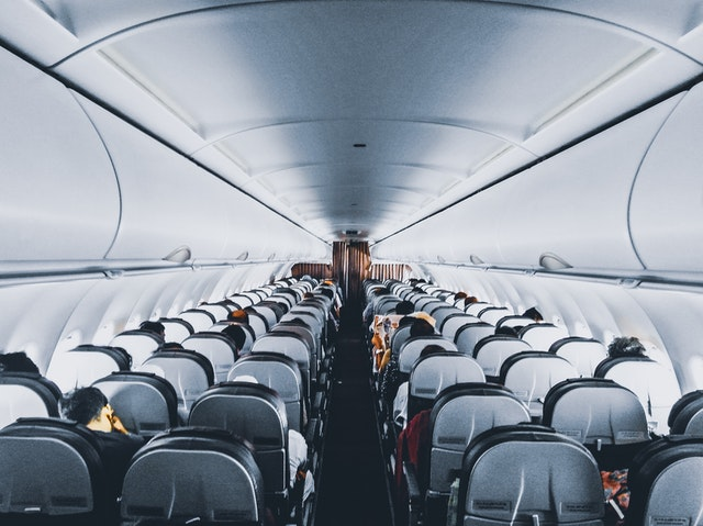 Seats of airplane