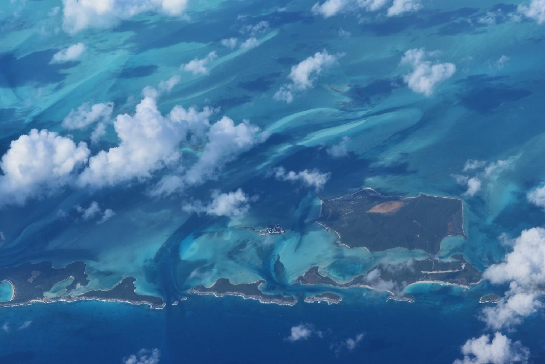Overhead view of Bahama Islands